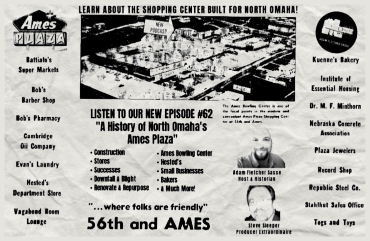 """A History of Ames Plaza"" Episode #62 North Omaha History Podcast"