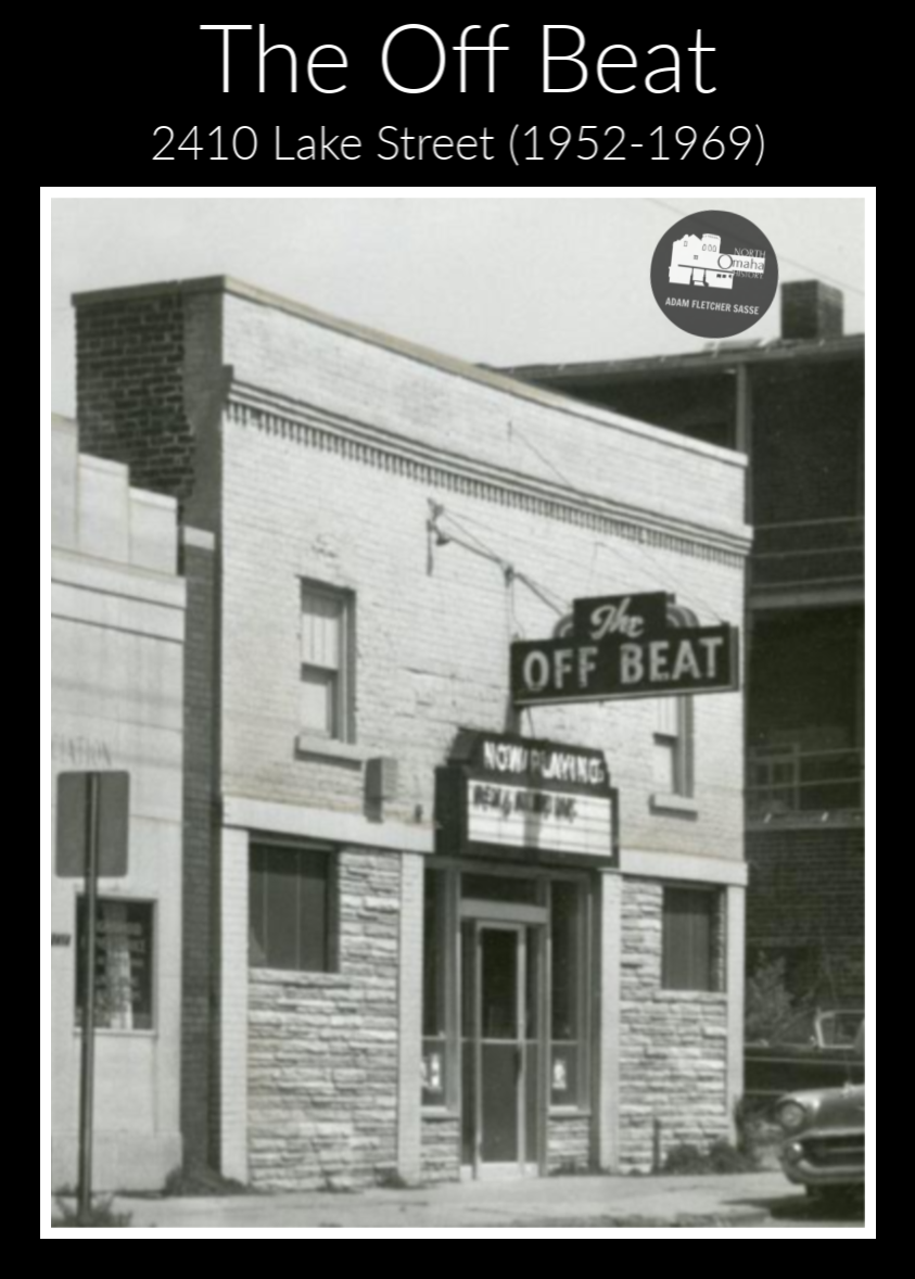 The Off Beat Club, 2410 Lake Street, North Omaha, Nebraska