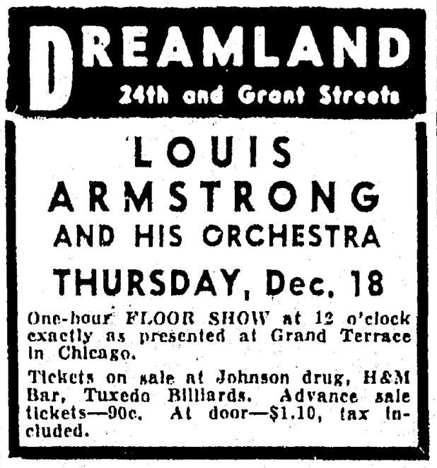 Dreamland Ballroom, 24th and Grant Streets, North Omaha, Nebraska