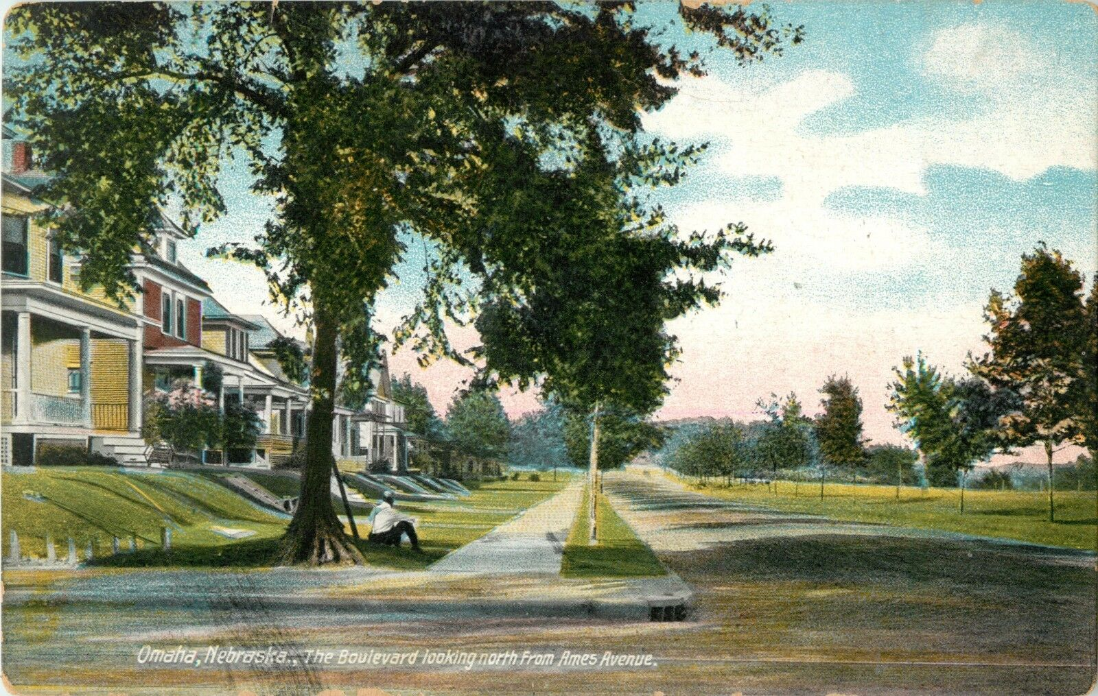 1910s Florence Blvd postcard, North OMaha, Nebraska