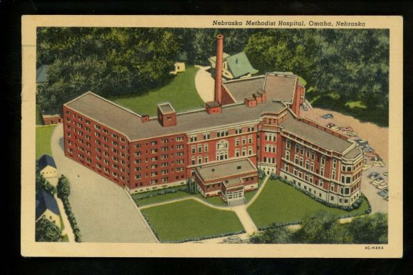 Nebraska Methodist Hospital, North 38th and Cuming Street, North Omaha, Nebraska