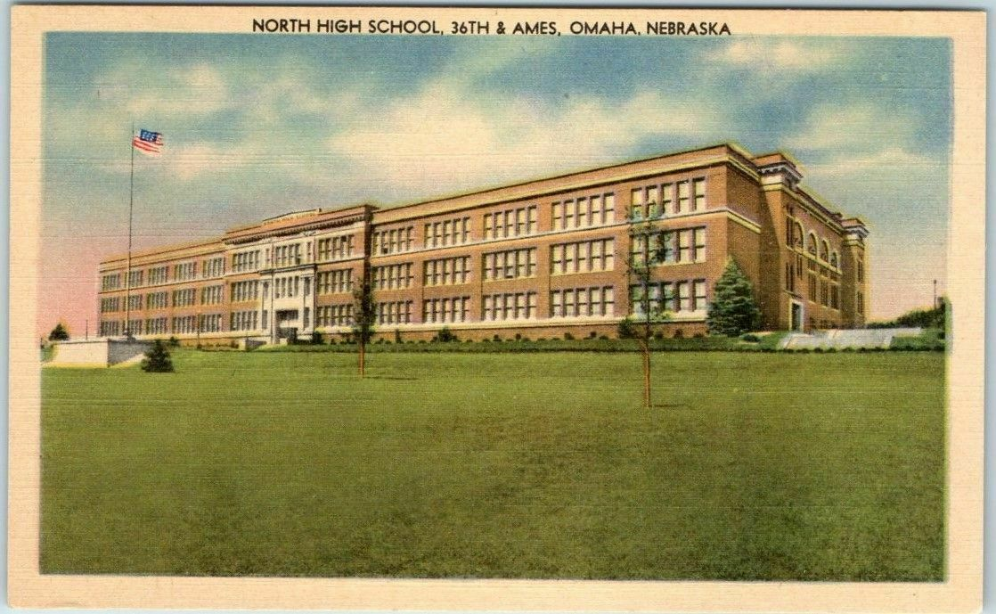 North High School, North 36th and Ames Avenue, North Omaha, Nebraska