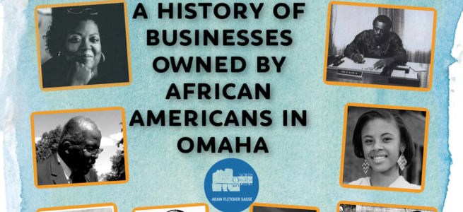 This image shows several African American business owners in Omaha from the 1880s to present.
