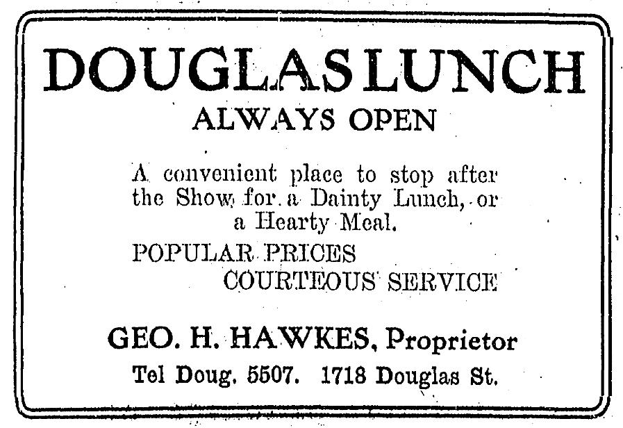 Douglas Lunch, 1718 Douglas Street, Omaha, Nebraska