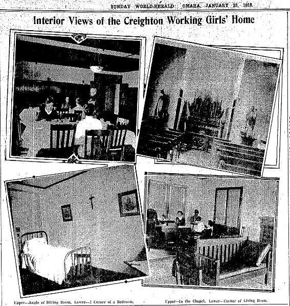 Creighton Working Girls' Home, 2104 Davenport St, Omaha, Nebraska