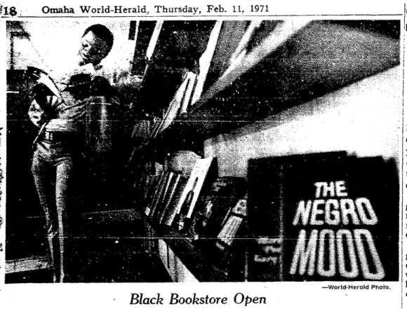 This pic shows the interior of the Harambee Bookstore in North Omaha in 1971.