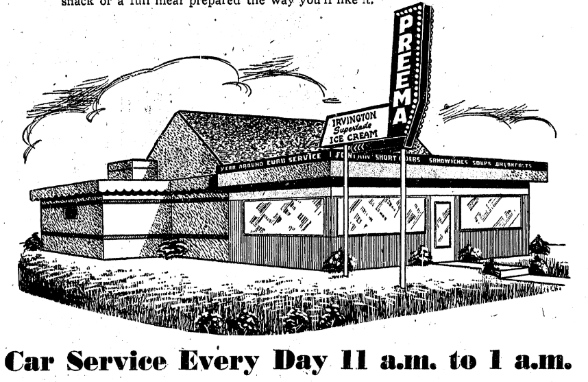 Preema Drive-In, North 16th and Binney Streets