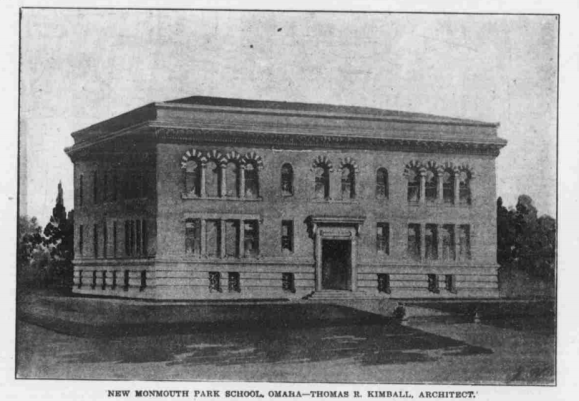 Monmouth Park School, North 33rd and Ames Avenue, Omaha, Nebraksa
