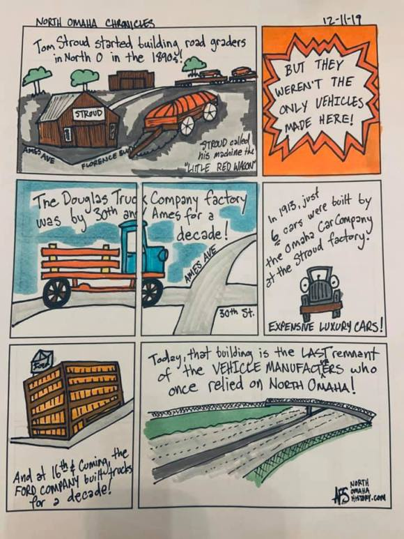 History of vehicles made in North Omaha, Nebraska comic