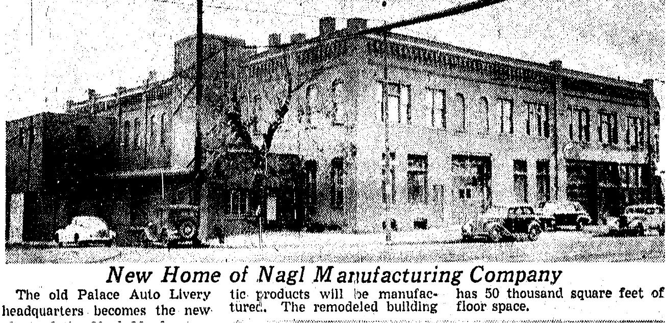 Nagl Manufacturing Company, 2126 Cuming Street, North Omaha, Nebraska