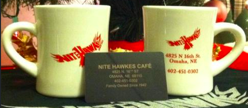 Nite Hawks mugs and t-shirt