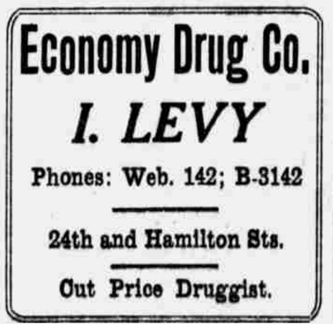 Economy Drug Company, 1324 North 24th Street,