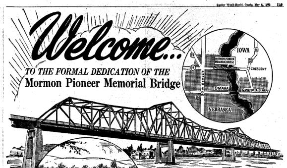 Mormon Pioneer Memorial Bridge, North Omaha, Nebraska