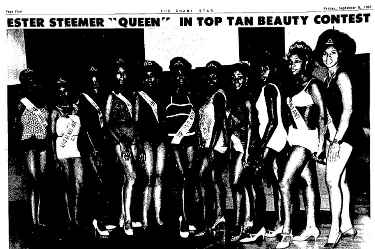1967 Top Tan Beauty Contest, North Omaha, Nebraska