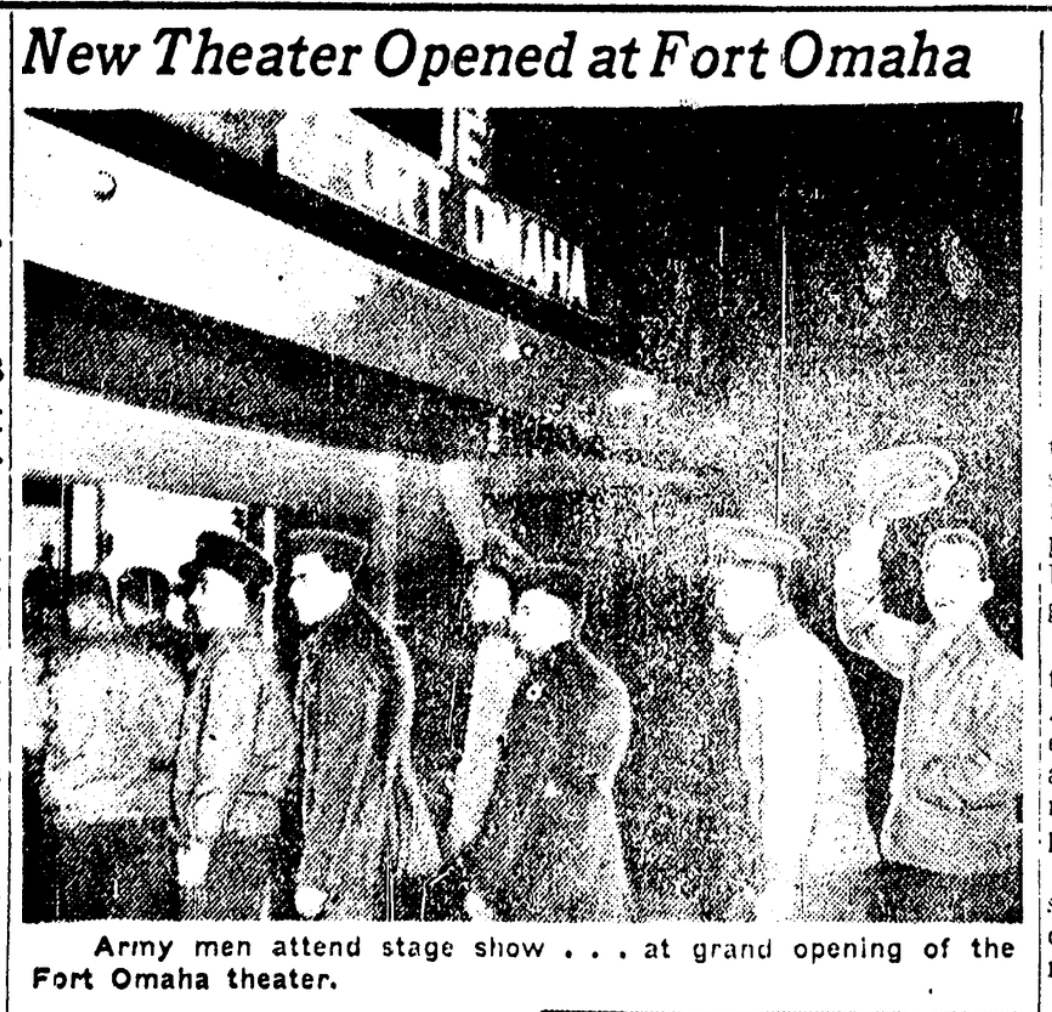 Fort Omaha Theater (1942-1945), North Omaha, Nebraska.