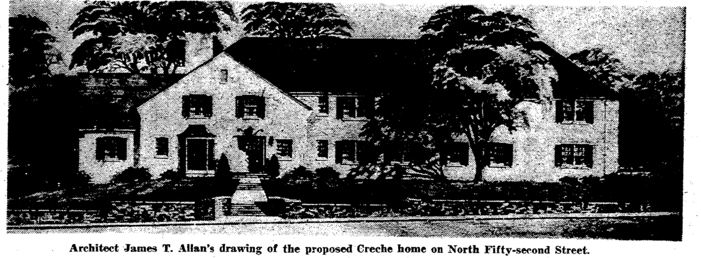 Crèche home, N. 52nd and Pratt Streets, North Omaha, Nebraska