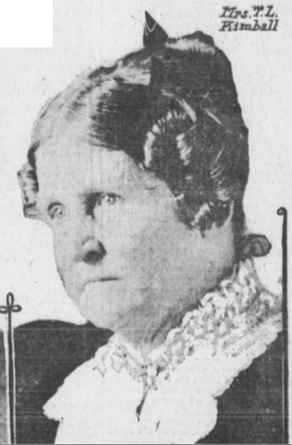 Mrs. Mary Porter Kimball (1831-1930), Omaha, Nebraska