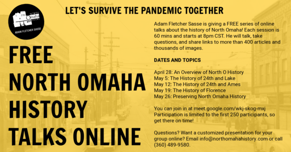 North Omaha History Talks Online by Adam Fletcher Sasse, May 2020