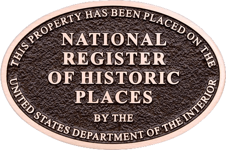 National Register of Historic Places NRHP plaque