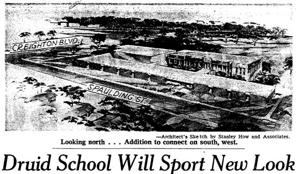 Druid Hill School, 3030 Spaulding Street, North Omaha, Nebraska.