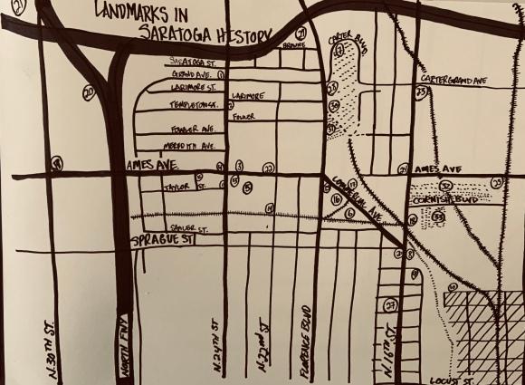 Saratoga Nebraska History Map