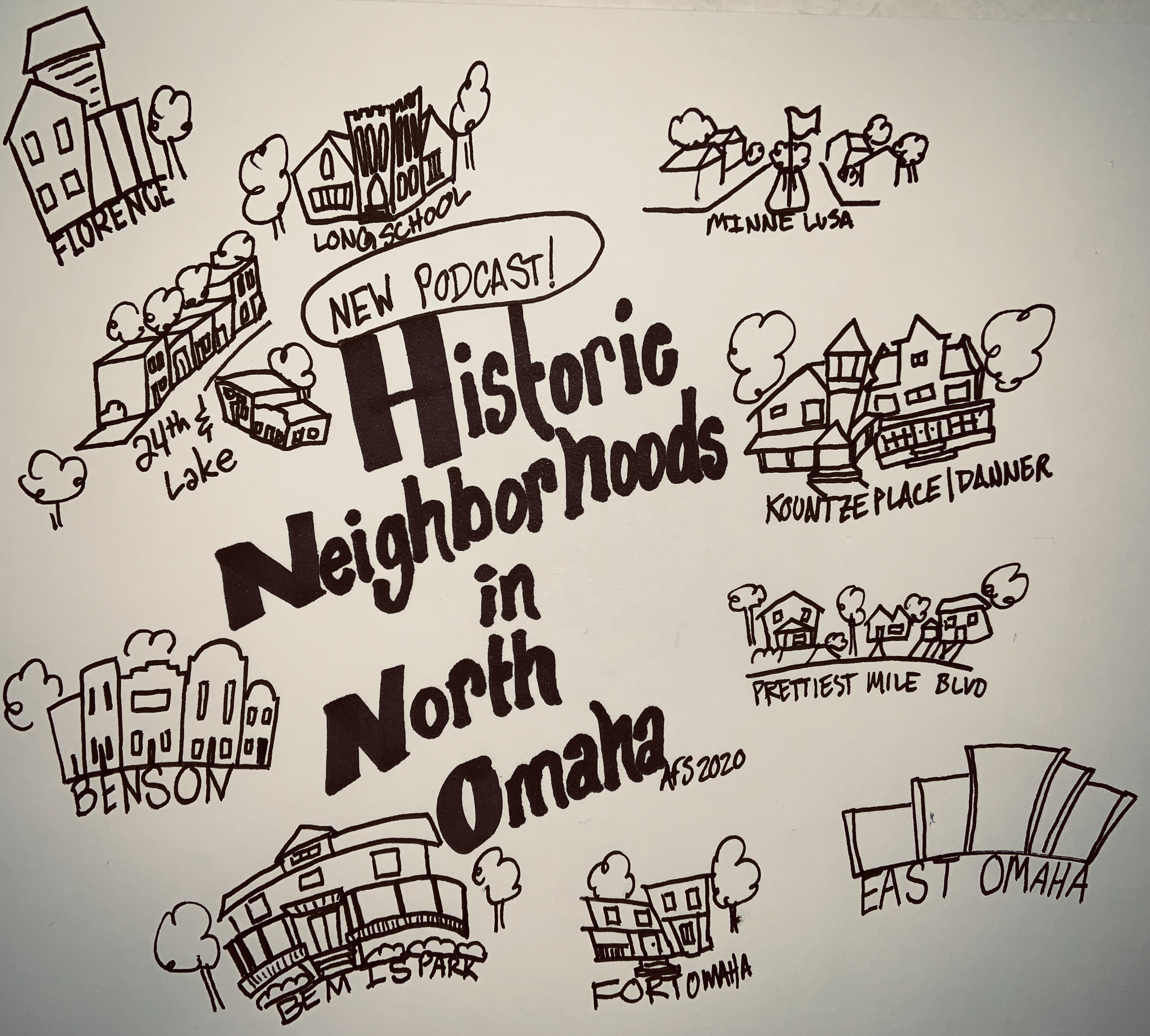 Podcast about Historic Neighborhoods in North Omaha by Adam Fletcher Sasse and Steve Sleeper
