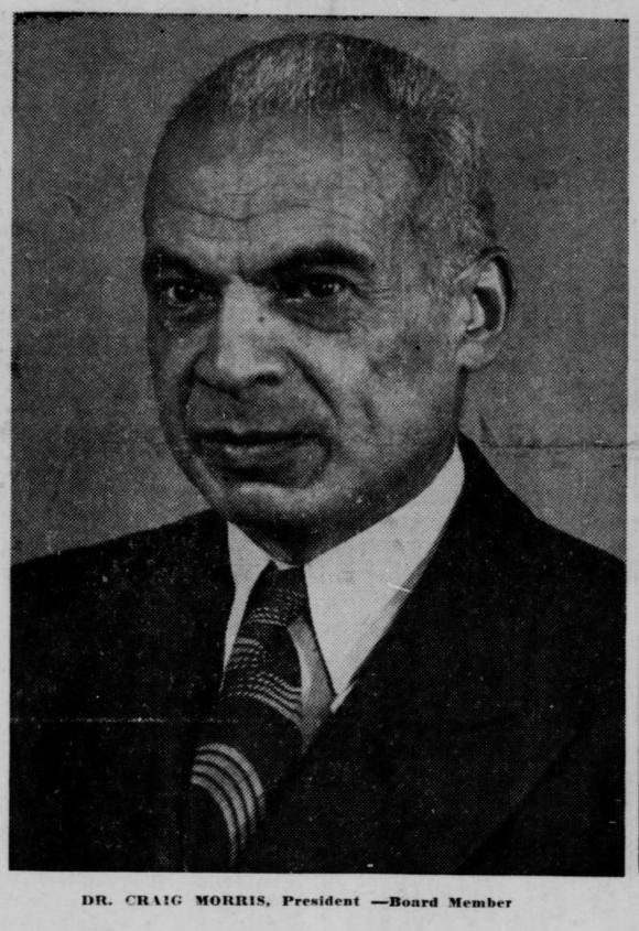 Dr. Craig Morris (1893-1977), North Omaha, Nebraska