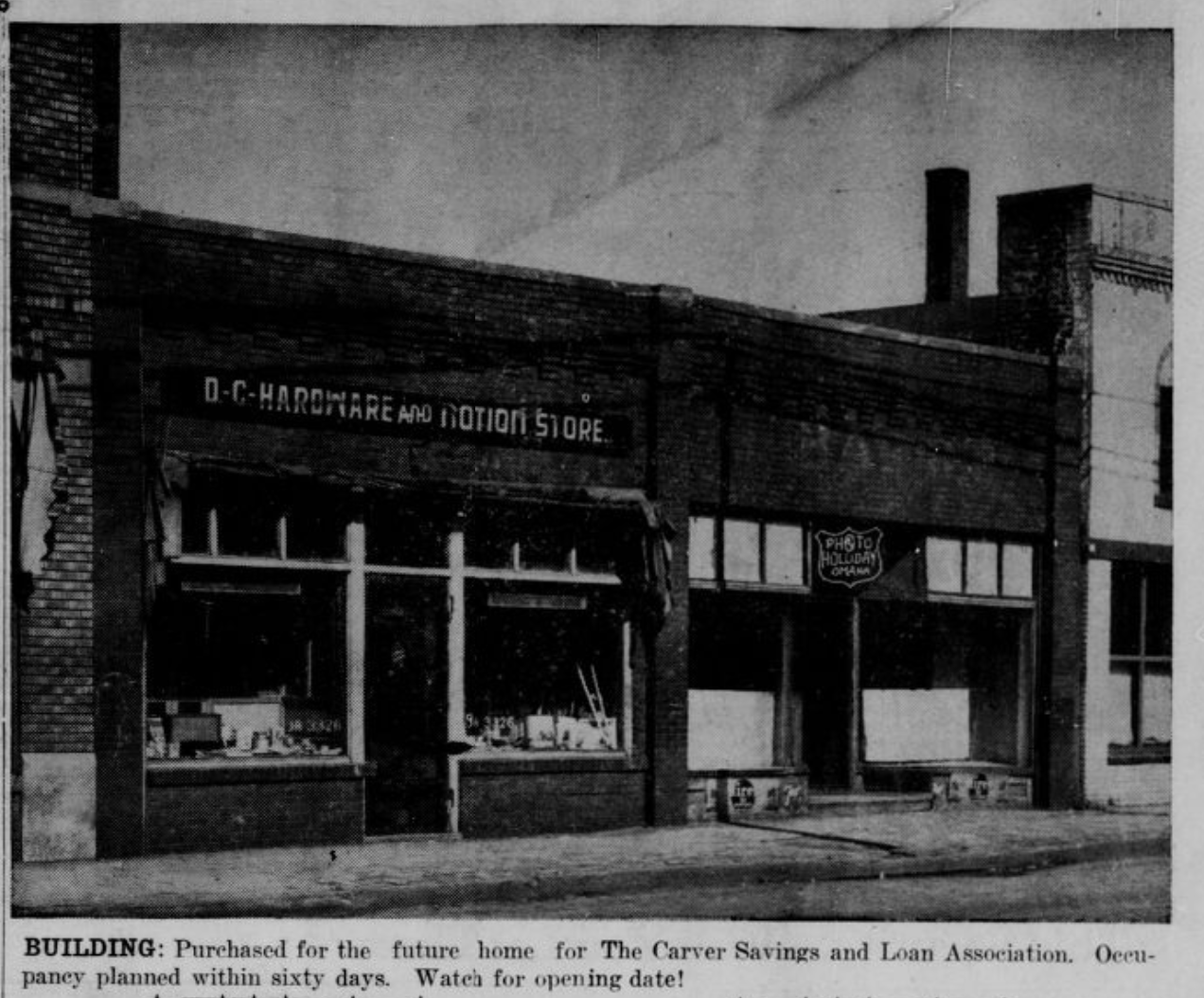 Carver Savings and Loan building at 2416 Lake Street, North Omaha, Nebraska