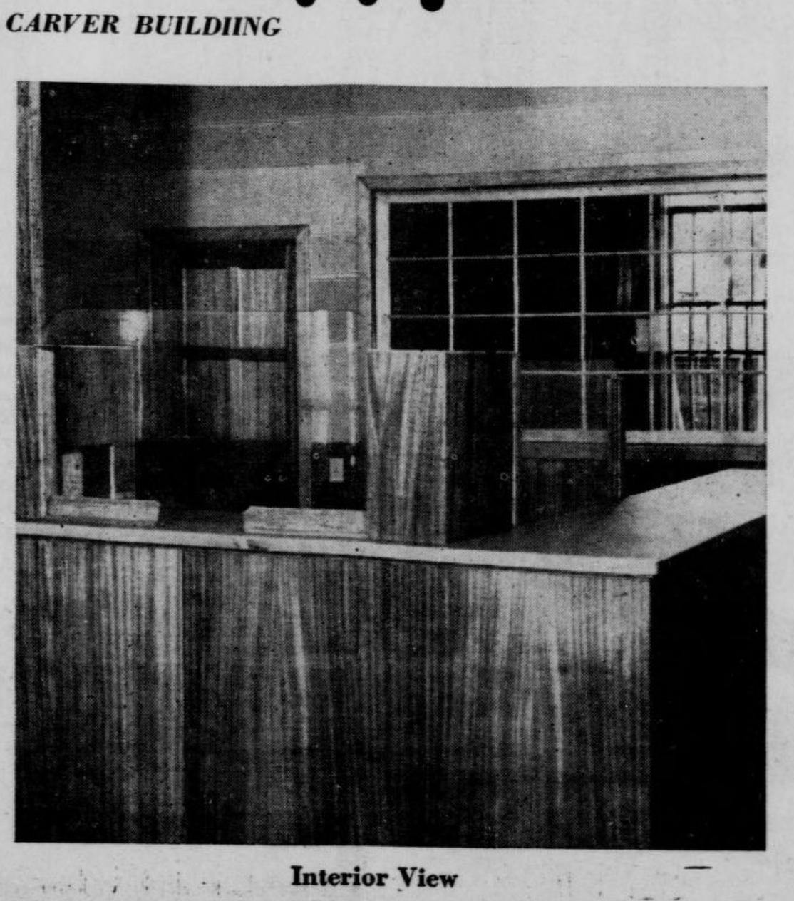 Carver Bank interior 1946, North Omaha, Nebraska