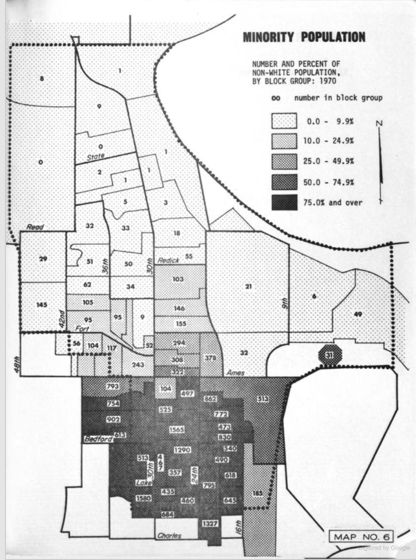 North Freeway impact on Black community, North Omaha, Nebraksa