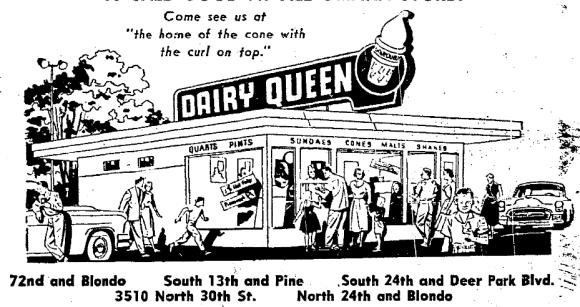1956 Dairy Queen ad, Omaha, Nebraska