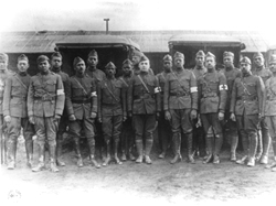 WWI US Army 92nd Division dental officers