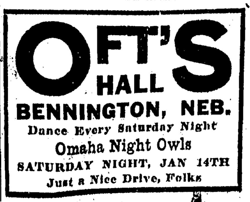 1920 Omaha Night Owls ad