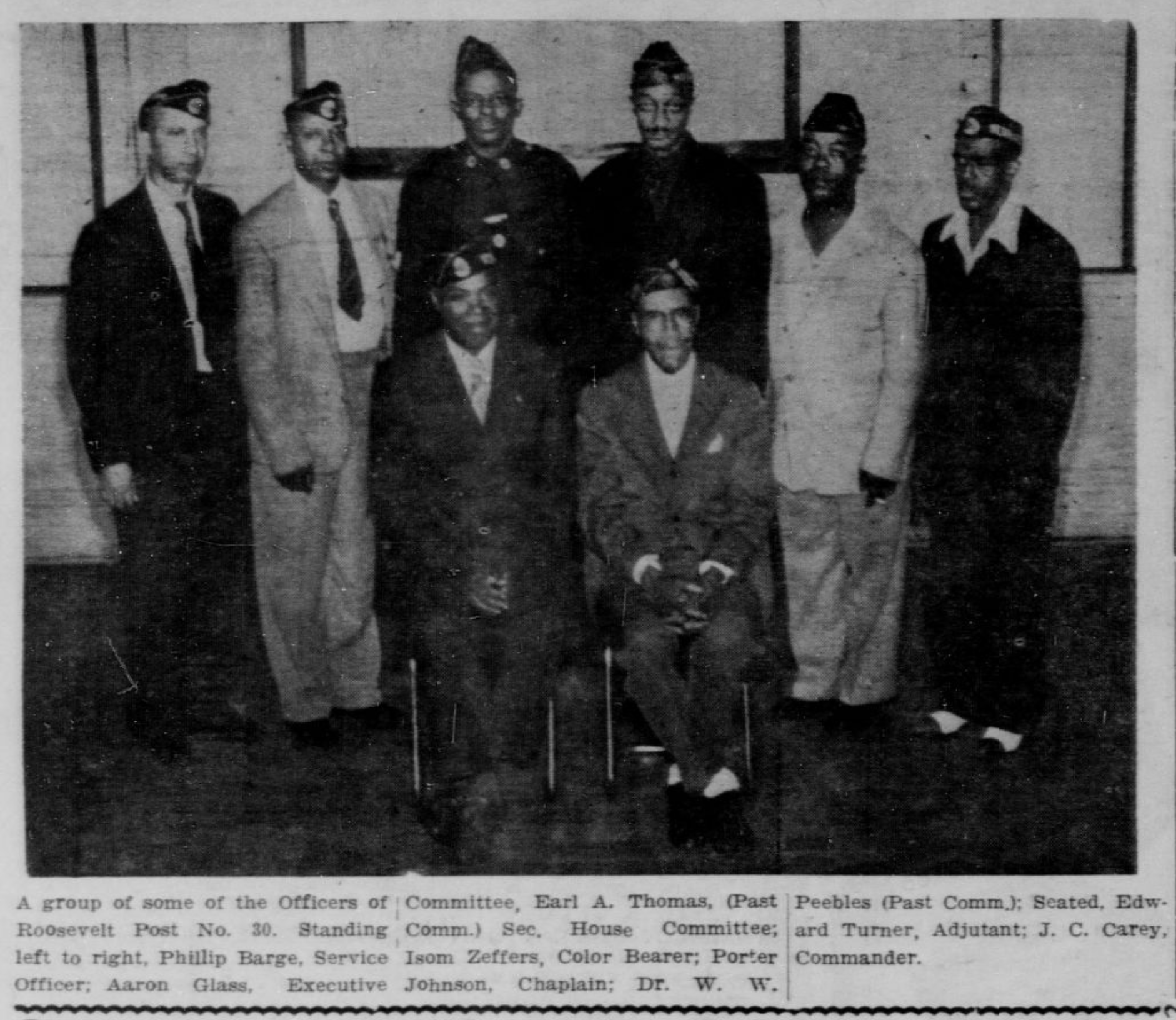 Leaders of North Omaha American Legion Roosevelt Post No. 30 in 1943