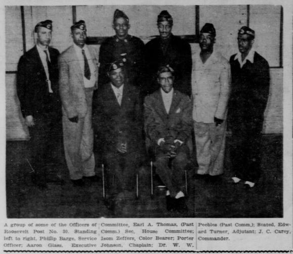 Leaders of North Omaha American Legion Roosevelt Post No. 30 in 1943