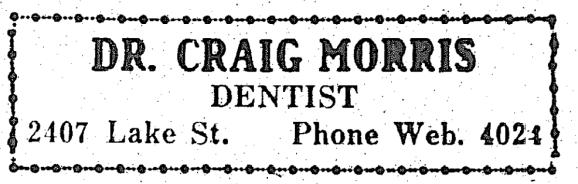 Dr. Craig Morris DDS, 2407 Lake Street, North Omaha, Nebraska