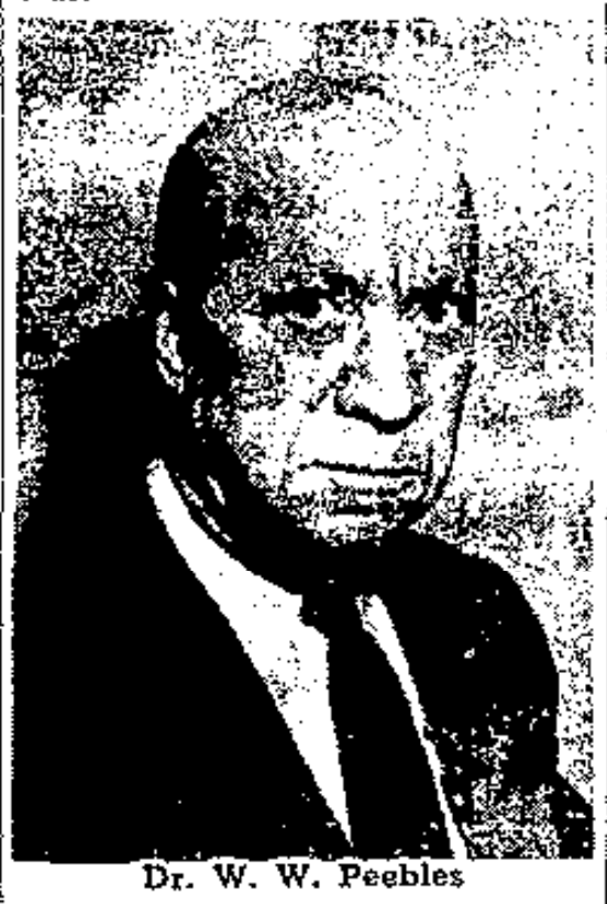 Biography of Dr. William W.Peebles