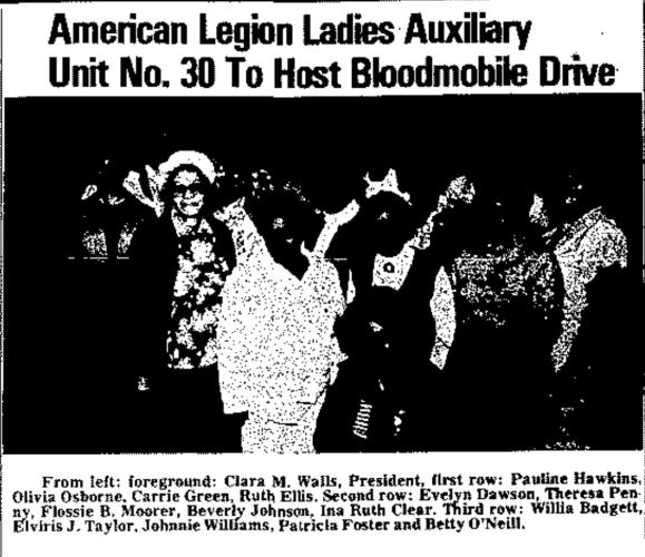 1980 Bloodmobile Drive American Legion