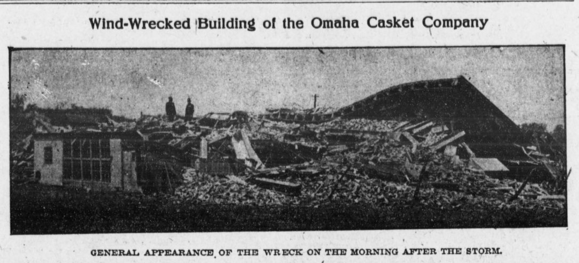 Omaha Casket Company factory at N. 16th and Izard Street, North Omaha, Nebraska