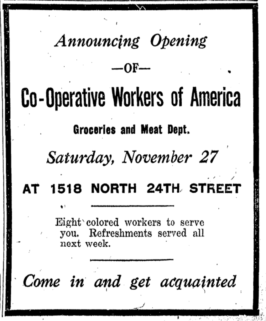Cooperative Workers of America Department Store, 1518 N. 24th St., North Omaha, Nebraska