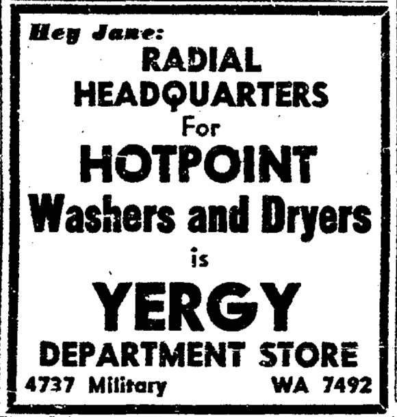Yergy's Department Store, 4737 Military Ave., Benson neighborhood, Omaha, Nebraska