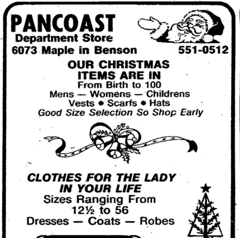 The Pancoast Department Store was at 6073 Maple Street, Benson Commercial Historic District, Omaha, Nebraska