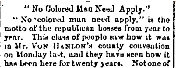 Segregation example 1882