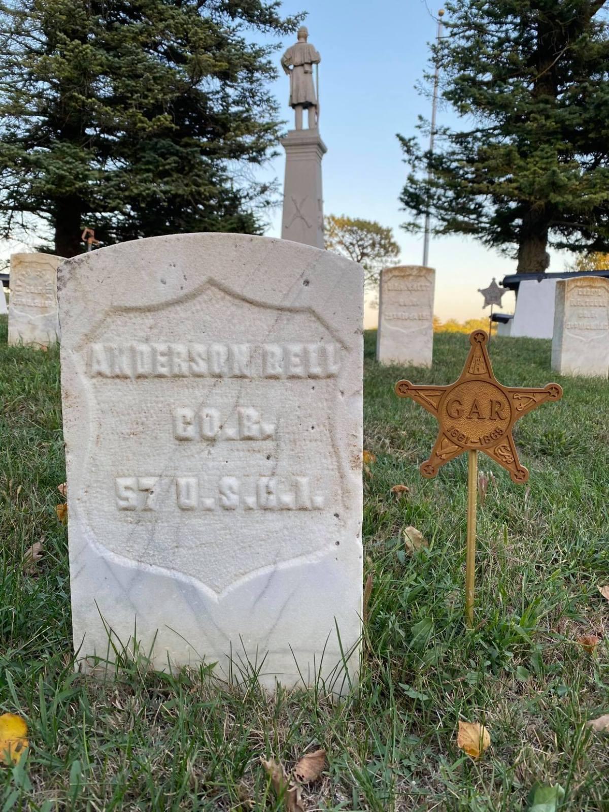 Pvt. Anderson Bell (1838-1903), North Omaha, Nebraska