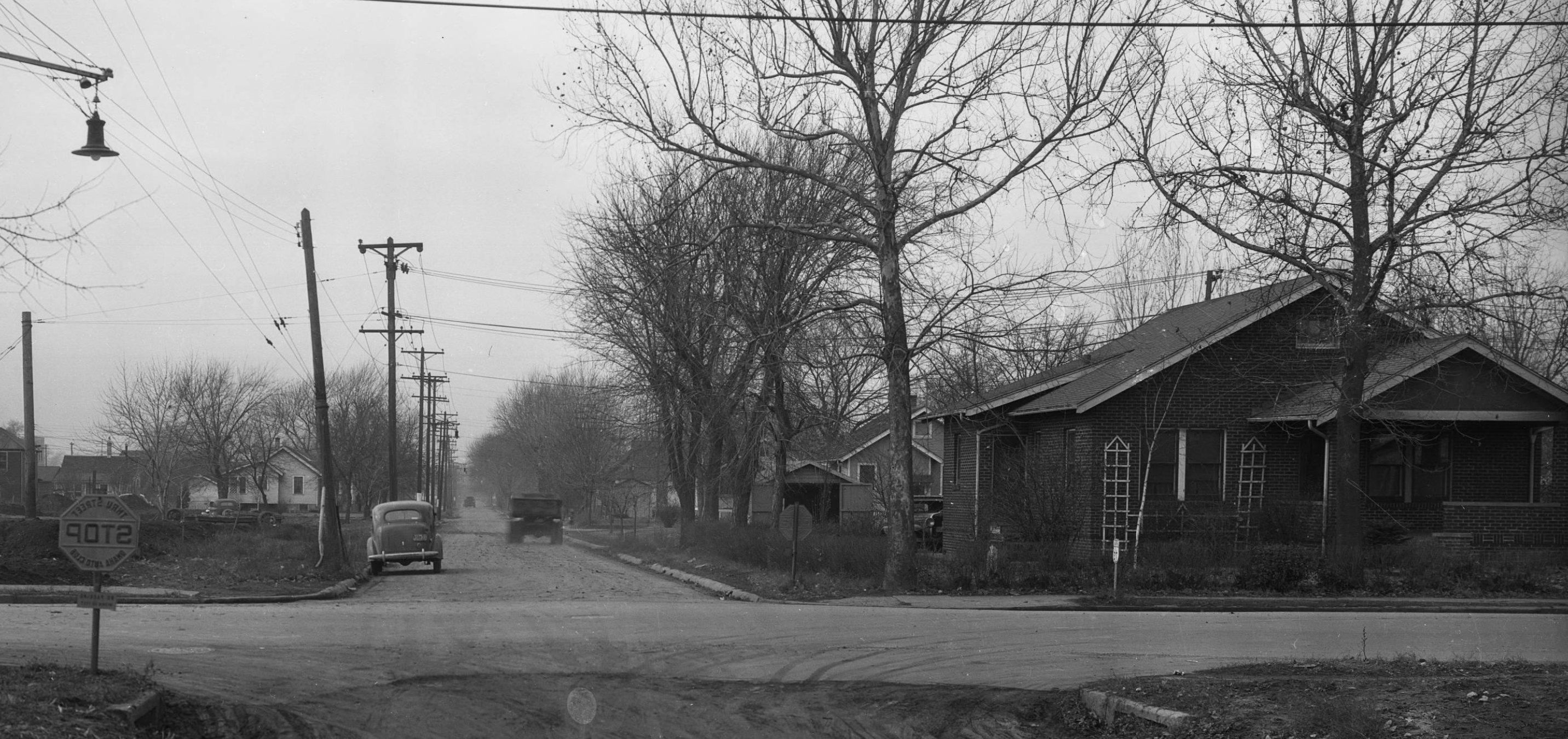 This is the intersection of North 30th and Spaulding Street looking west in the 1930s. Image courtesy of the Durham Museum.