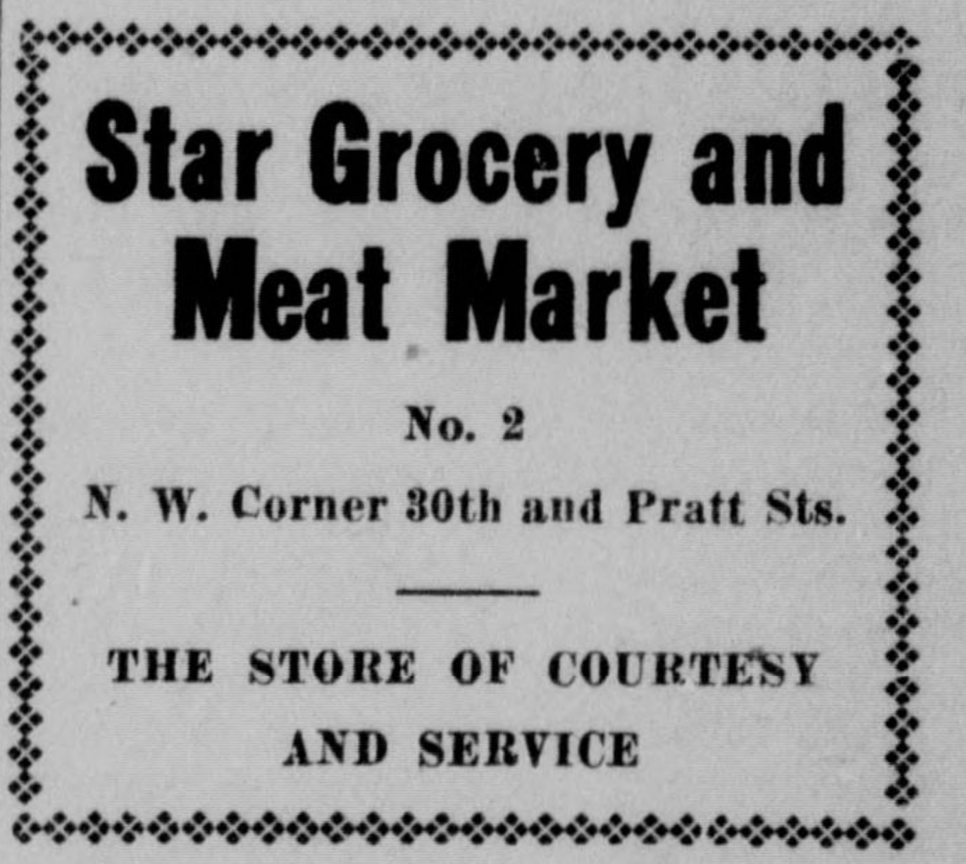 Star Grocery and Meat Market, North 30th and Pratt Street, North Omaha, Nebraska
