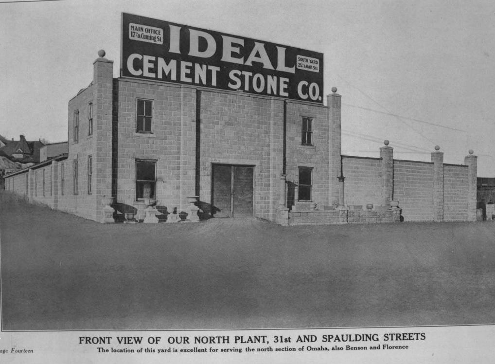 Ideal Cement Stone Company, North 31st and Spaulding Street, North Omaha, Nebraska