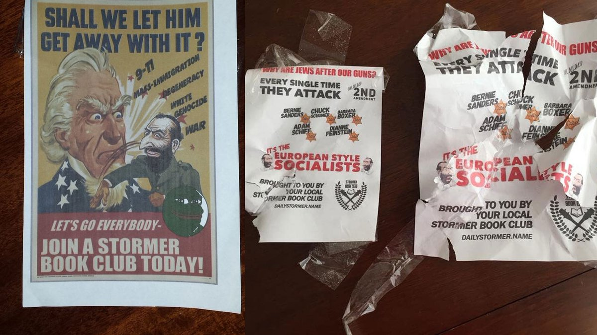 These antisemitic flyers were posted in Omaha neighborhoods in 2018. Image courtesy of WOWT.