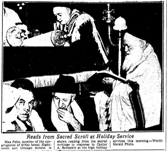 1936 Rosh Hashonah picture from B'Nai Israel