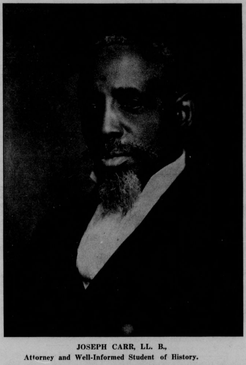 Joseph Carr (1857-1924), North Omaha, Nebraska